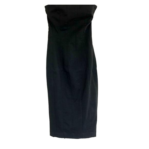 Zara Dresses & Skirts - Zara Black Fitted Bodice Strapless Dress Size S